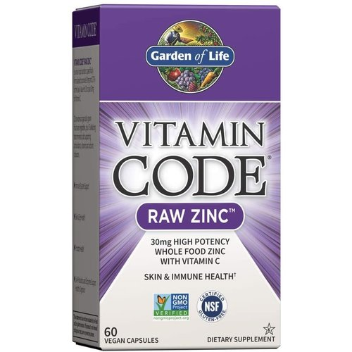 Garden of Life GoL Vitamin Code Raw Zinc, 60cp