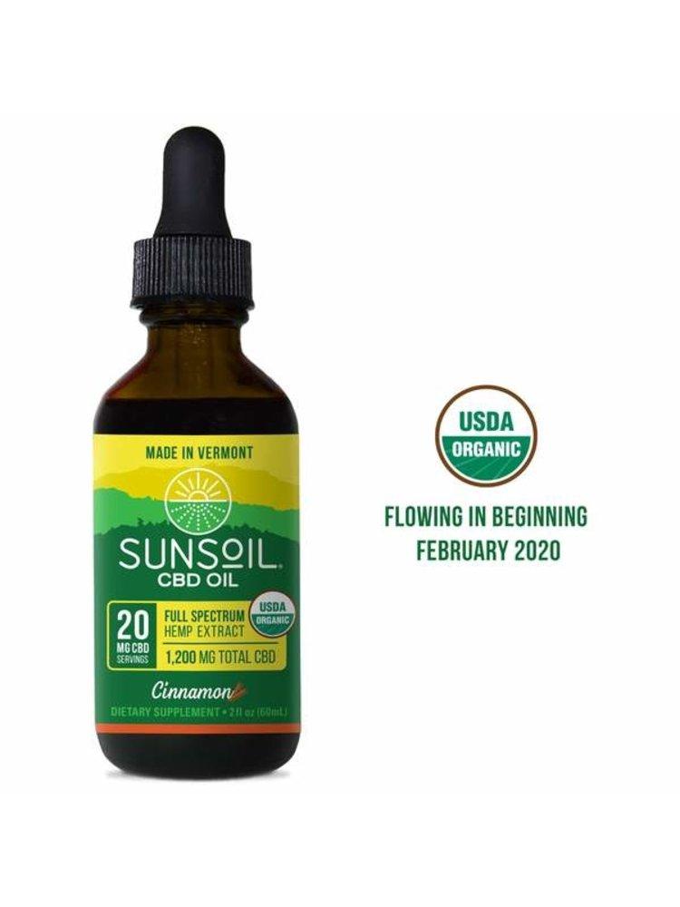 SUNSOIL SunSoil Cinnamon 1200mg, 2oz.