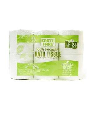 Earth Fare Earth Fare Toilet Paper Double Roll, 12-pk