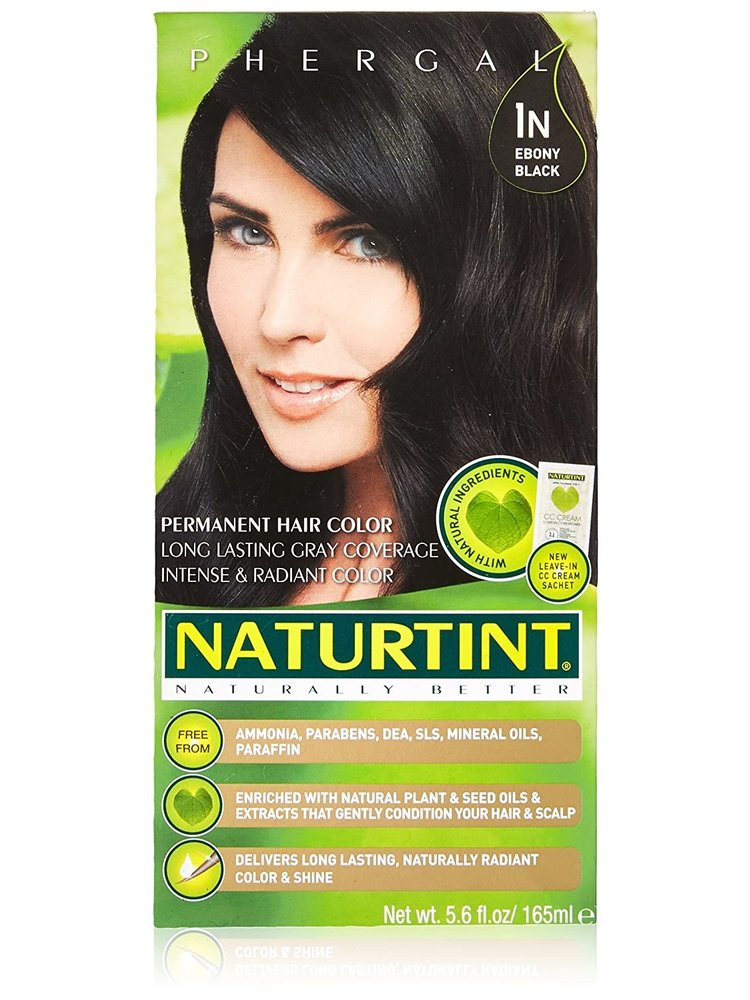 Naturtint Naturtint Hair Color, 1N Ebony Black, 5.6oz.