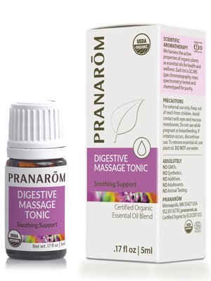 PRANAROM Pranarom Organic Digestive Massage Tonic Essential Oil Blend, 5ml