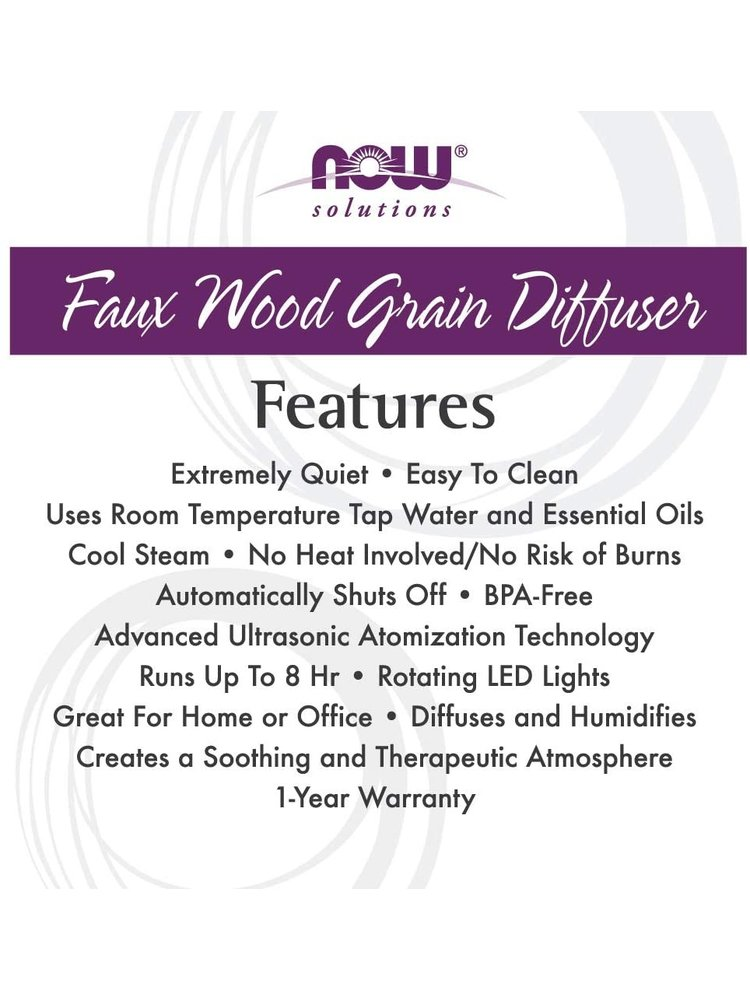 NOW Foods NOW Foods Wooden Nut Essential Oil Diffuser