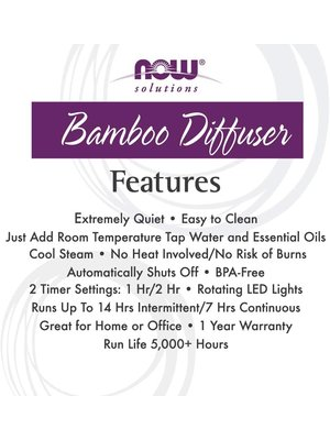 NOW Foods NOW Foods Real Bamboo Ultrasonic Oil Diffuser