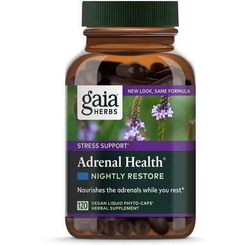 GAIA HERBS Gaia Adrenal Health Nightly Restore, 120cp