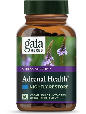GAIA HERBS Gaia Adrenal Health Nightly Restore, 60cp