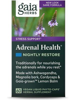 GAIA HERBS Gaia Adrenal Health Nightly Restore, 60cp
