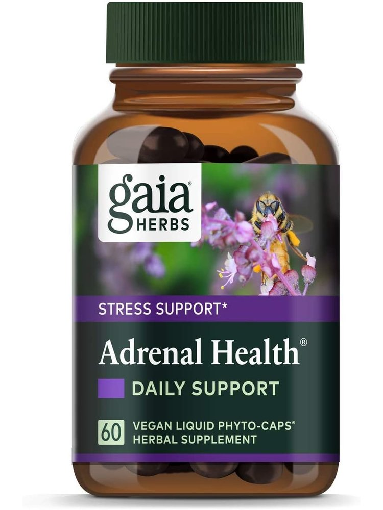 GAIA HERBS Gaia Adrenal Health Daily Support, 60cp