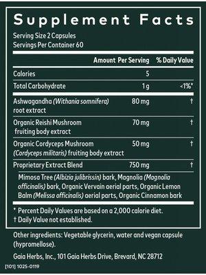 GAIA HERBS Gaia Adrenal Health Daily Support, 120cp