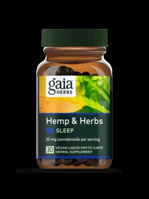 GAIA HERBS Gaia Hemp & Herbs Sleep, 30cp