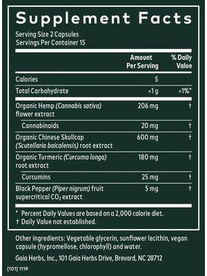 GAIA HERBS Gaia Hemp & Herbs Relief, 30cp