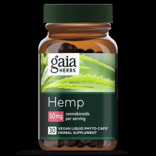 GAIA HERBS Gaia Hemp Full Spectrum Extract 50mg, 30cp