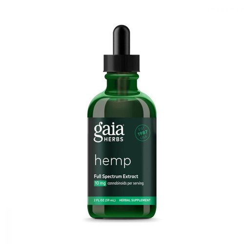 GAIA HERBS Gaia Hemp Full Spectrum Extract 10mg, 2oz.
