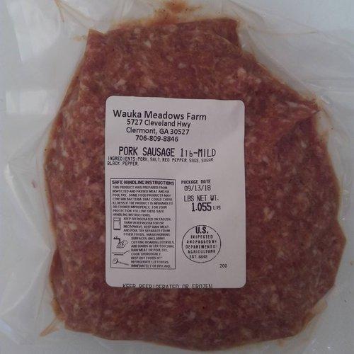 WAUKA MEADOWS FARM Wauka Meadows Organic Mild Sausage, 1lb.