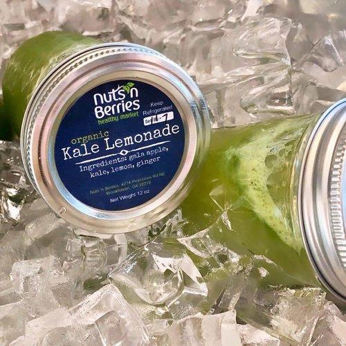 Nuts 'n Berries Nuts 'n Berries Organic Raw Juice, Kale Lemonade, 12oz.