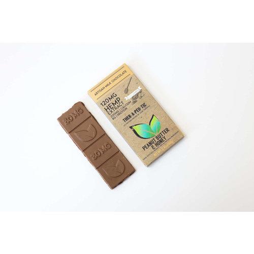 THERAPEUTIC TREATS Therapeutic Treats PB & Honey Milk Chocolate, 120mg, 2oz.