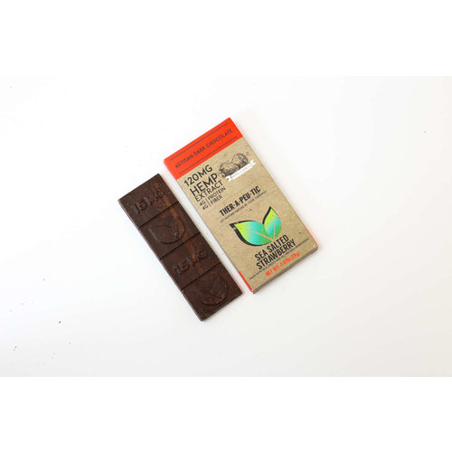 THERAPEUTIC TREATS Therapeutic Treats Sea Salt Strwbry Dark Chocolate, 120mg, 2.07oz.