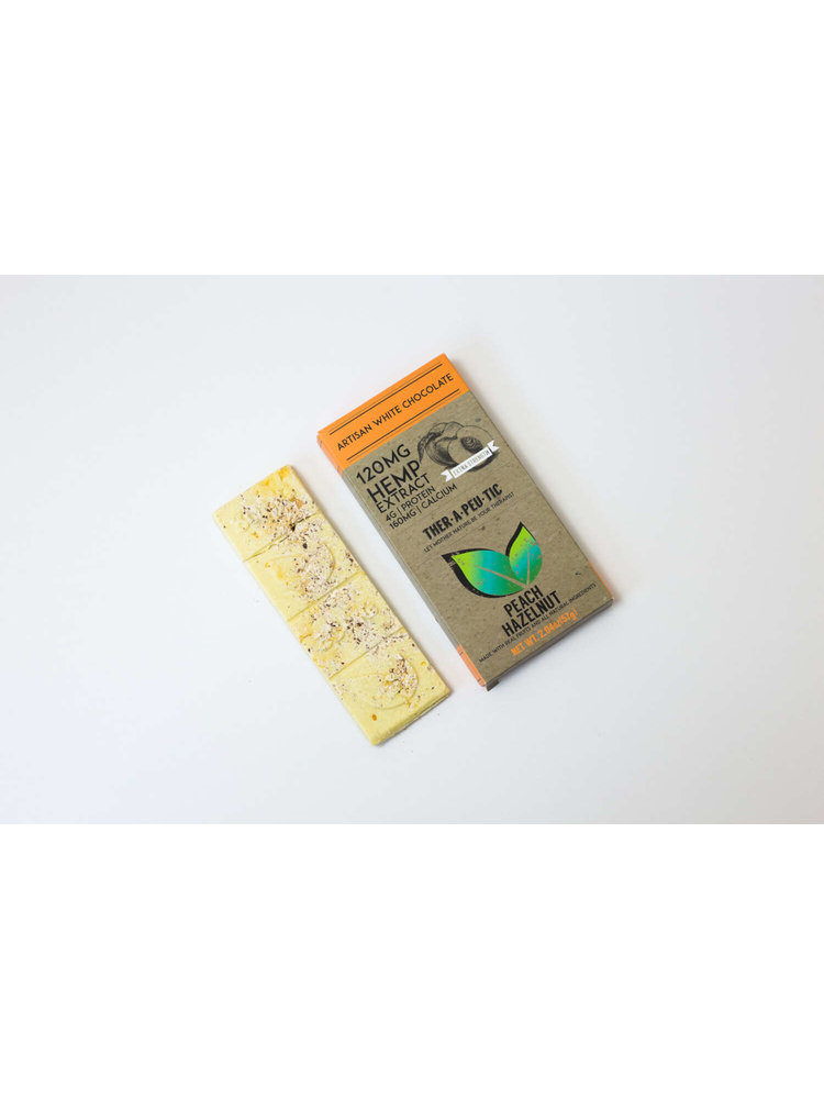 THERAPEUTIC TREATS Therapeutic Treats Peach Hazelnut White Chocolate, 120mg, 2.04oz.