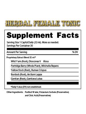 DR. TATES HERBAL TINCTURES & TONICS Dr. Tates Tonic for Women