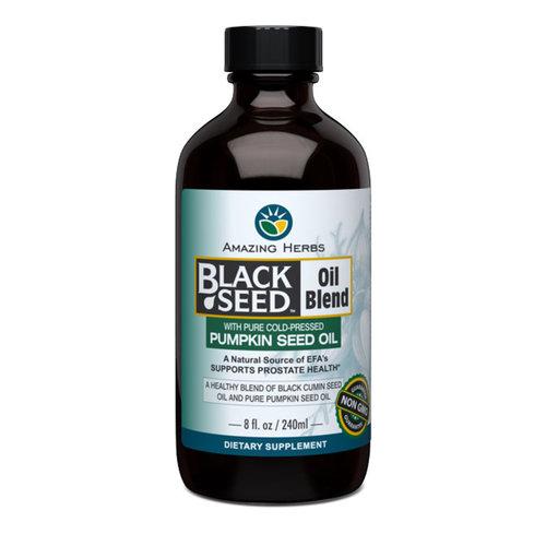 AMAZING HERBS Amazing Herbs Black Seed Oil Blend w/Pumpkin Seed Oil, 8oz.