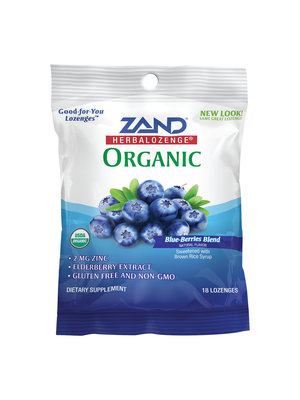 Zand Zand Elderberry Zinc Herbalozenge, Blueberry, 18lz
