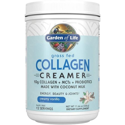 Garden of Life GoL Grass Fed Collagen Creamer, Vanilla, 11.64oz.