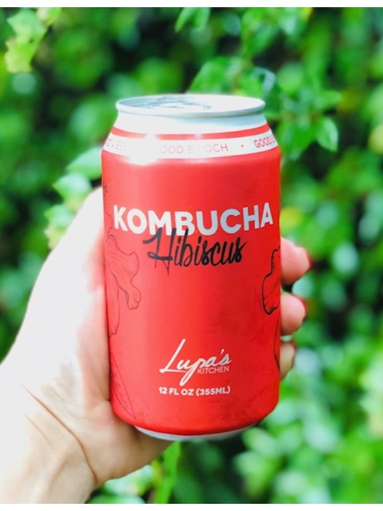 LUPA'S KITCHEN Lupa's Kitchen Hibiscus Kombucha, 12oz.