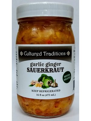 CULTURED TRADITIONS Cultured Traditions Spicy Garlic Ginger Kraut, 16oz.