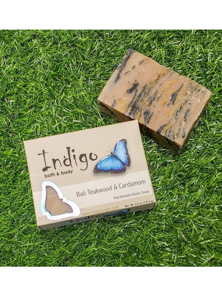 INDIGO BATH & BODY Indigo Body Soap, Bali Teakwood & Cardamom