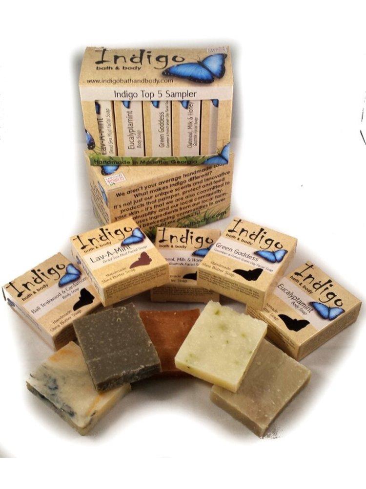 INDIGO BATH & BODY Indigo Top 5 Sampler Gift Set