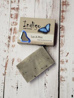 INDIGO BATH & BODY Evolve Botnaica Lav-A-Mint Dead Sea Mud Facial Soap