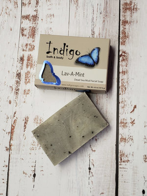 INDIGO BATH & BODY Indigo Lav-A-Mint Dead Sea Mud Facial Soap