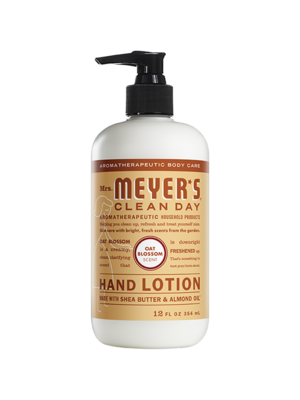 Mrs. Meyer's Clean Day Meyers Clean Day Hand Lotion, Oat Blossom, 12oz.