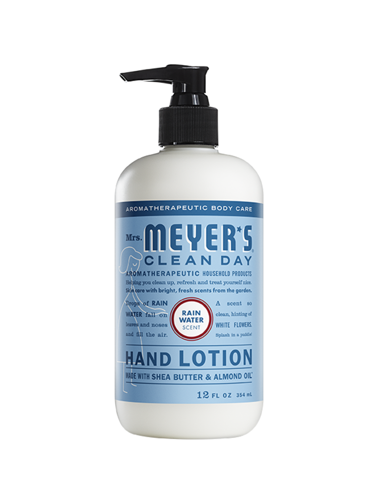 Mrs. Meyer's Clean Day Mrs. Meyers Hand Lotion, Rainwater, 12oz.