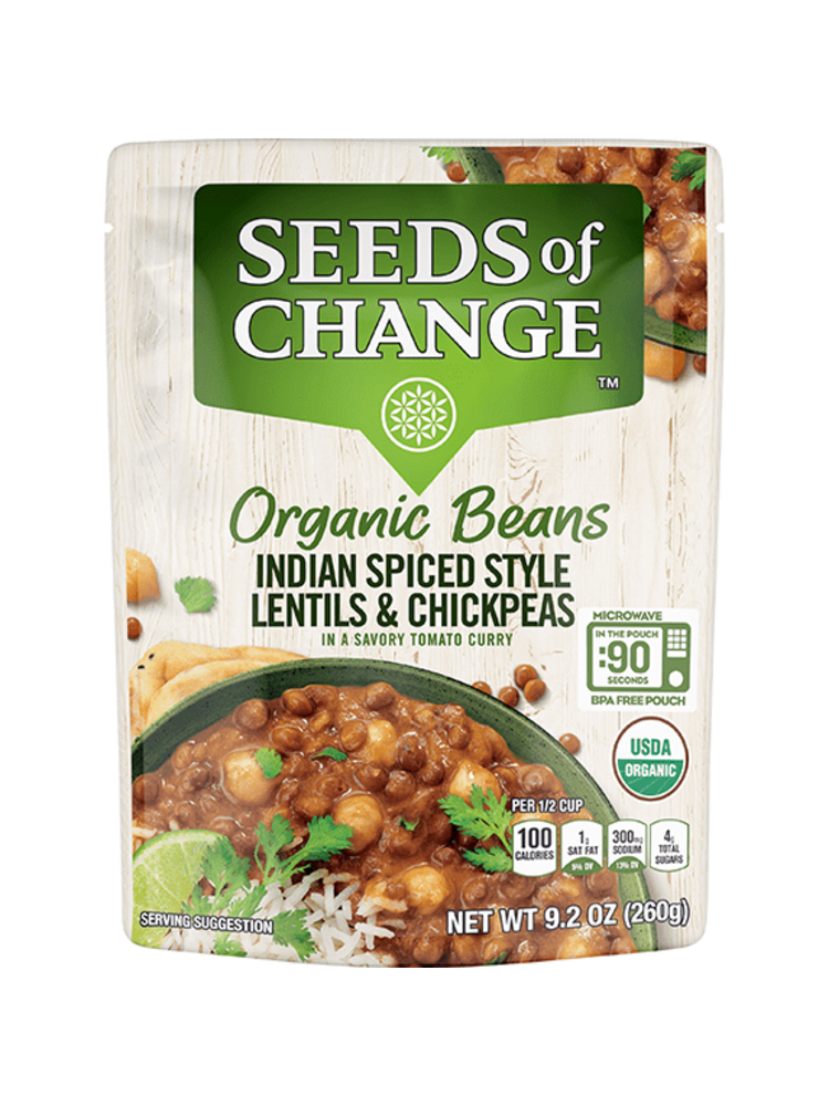Seeds of Change Seeds of Change Indian Spiced Lentils & Chickpeas, Organic, 9.2oz