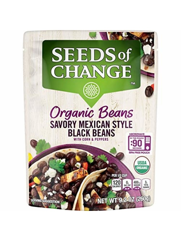 Seeds of Change Seeds of Change Mexican Black Beans, Organic, 9.2oz