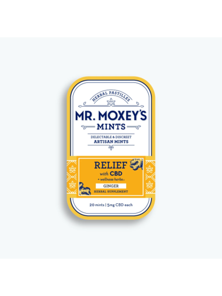 MR. MOXEY'S Mr. Moxey's Mints Relief, Ginger 5mg, 20ct