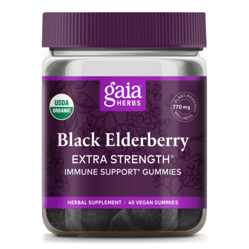 GAIA HERBS Gaia Black Elderberry Extra Strength Gummies, 40ct