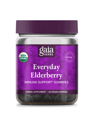 GAIA HERBS Gaia Black Elderberry Adult Daily Gummies 40ct