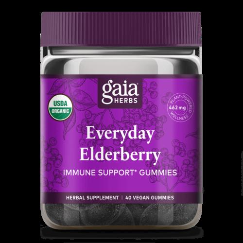 GAIA HERBS Gaia Everyday Elderberry Gummies 40ct