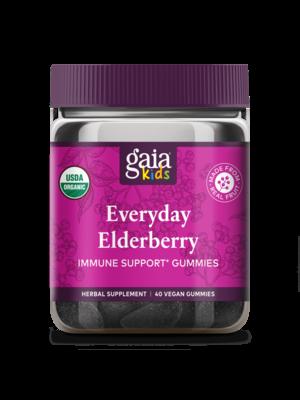 GAIA HERBS Gaia Kids Everyday Elderberry Gummies 40ct