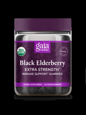 GAIA HERBS Gaia Black Elderberry Extra Strength Gummies, 80ct