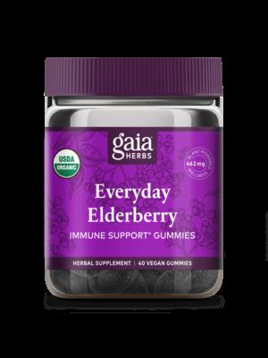 GAIA HERBS Gaia Everyday Elderberry Gummies 80ct