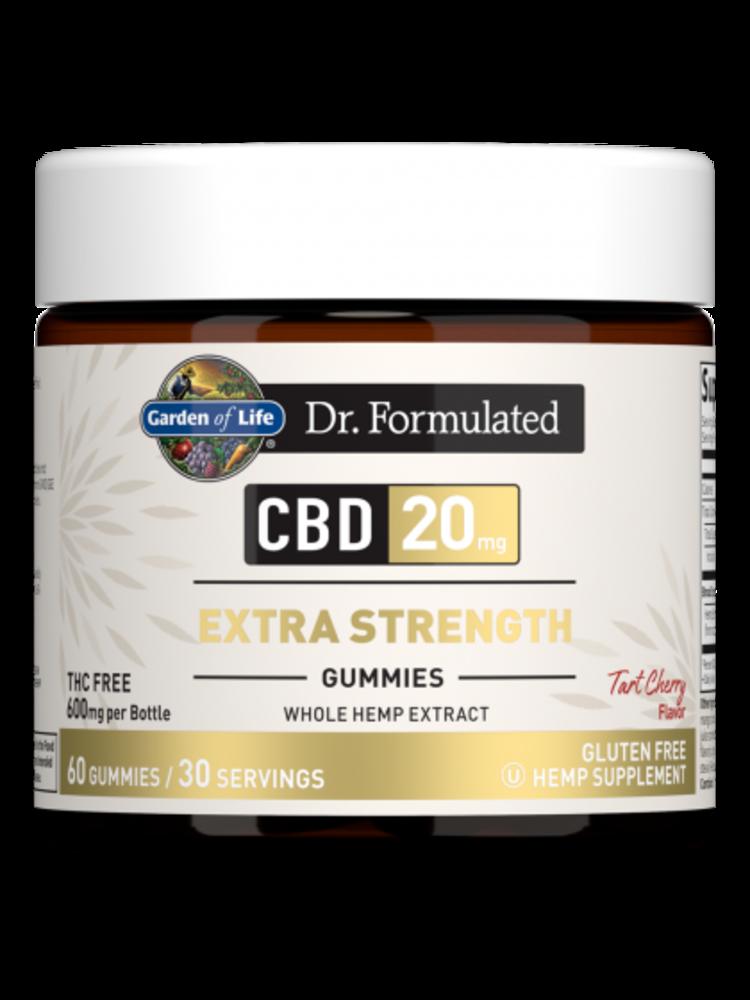 Garden of Life GoL Dr. Formulated CBD Gummies  Extra Strength 20mg, Tart Cherry, 60ct