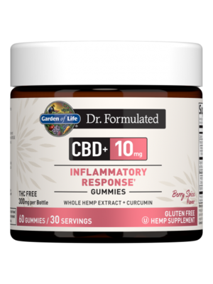 Garden of Life GoL Dr. Formulated CBD Inflammatory Response Gummies 10mg, Berry Spice, 60ct