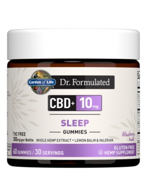 Garden of Life GoL Dr. Formulated CBD Sleep Gummies 10mg, Blueberry, 60ct