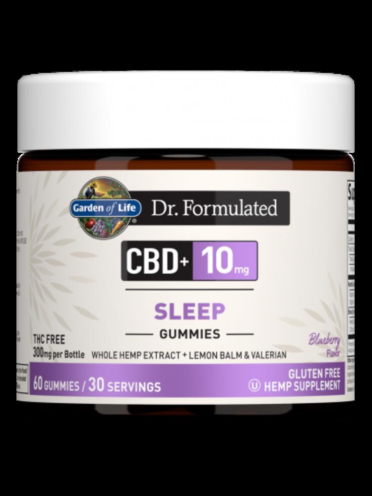 Garden of Life GoL Dr. Formulated CBD Sleep Gummies 10mg, Blueberry, 60ct