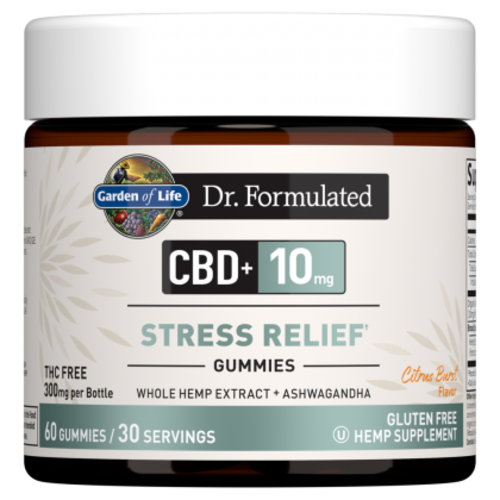 Garden of Life GoL Dr. Formulated CBD Stress Relief Gummies 10mg, Citrus Burst, 60ct