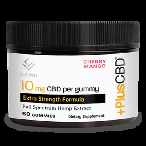 PLUS CBD PlusCBD Gummies, Extra Strength, Cherry Mango, 60ct