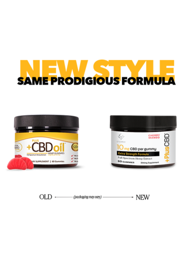 PLUS CBD PlusCBD Extra Strength Gummies, Cherry Mango, 60ct
