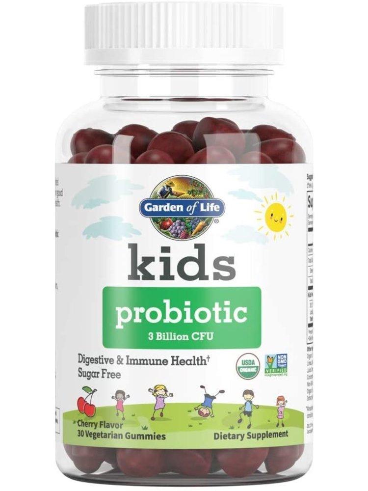 Garden of Life GoL myKIND Kids Organics Probiotic Gummy, Cherry, 30ct